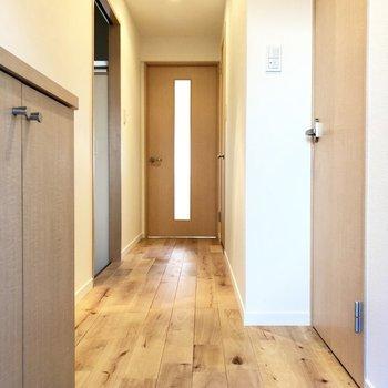 玄関から木のぬくもり空間