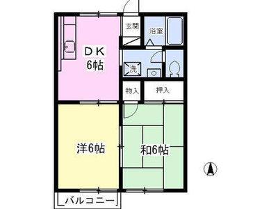 高座渋谷13分アパート の間取り