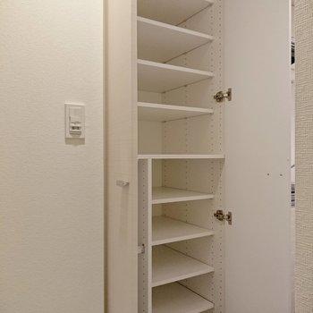 靴棚はしっかり容量がありますね。※写真は前回募集時のものです