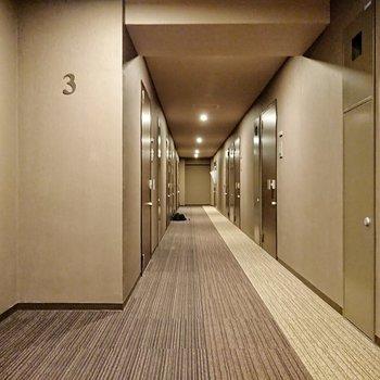 ホテルライクな共用部です。