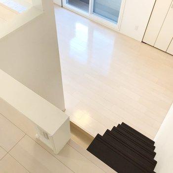 下にも階段があるんです。