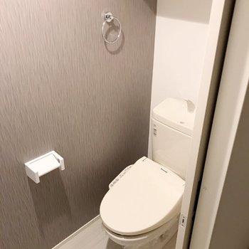 トイレはウォシュレット付き。
