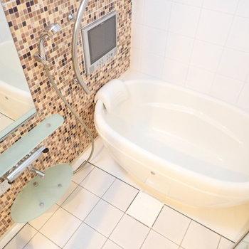 お風呂もかわいいですね〜。