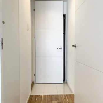 なんとこの扉から水廻りにアクセス。(※写真は補修・クリーニング前)