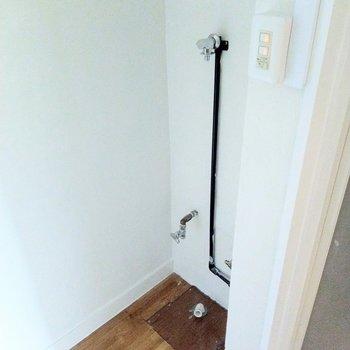 シャワールームの横に洗濯機置場。