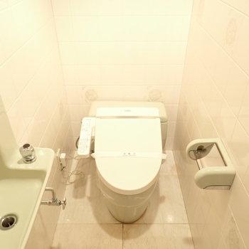ホテルのようなトイレ空間。