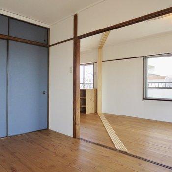 【バルコニー側洋室】開放感があって気持ちいい〜※写真は3階同間取り別部屋のものです