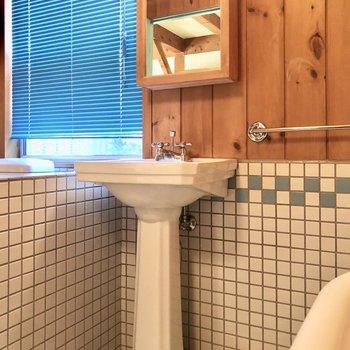 洗面台もしっかり可愛いデザイン!