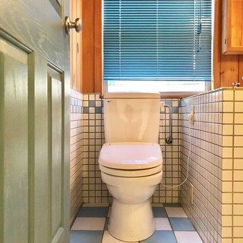 トイレの後ろは大きめの窓があって、閉塞感のない開放的なサニタリーです。
