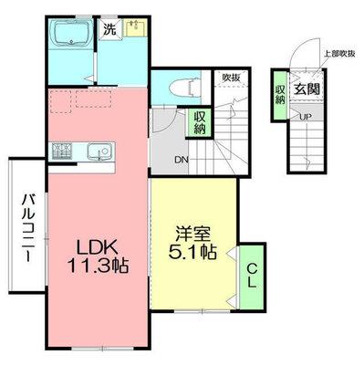 仮)清水新田新築アパート の間取り