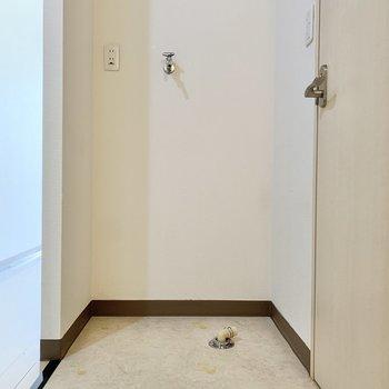 脱衣スペースには扉がありません。