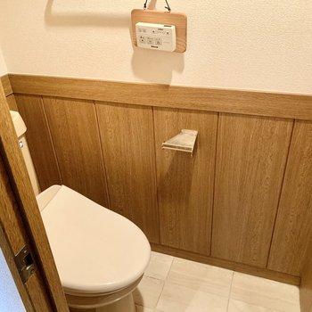 トイレはウォシュレット付いてますよ。
