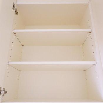 上の部分は各棚が広め