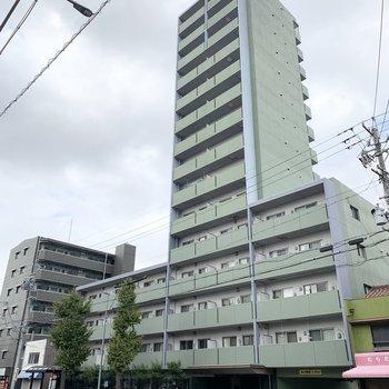 鉄筋コンクリート15階建マンションです。