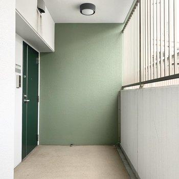 共用部もグリーンの空間。