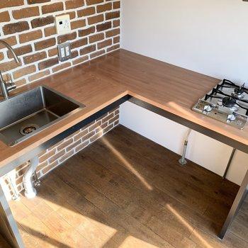 L字型で使いやすいキッチンです。