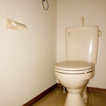 トイレは個室で嬉しいですね。