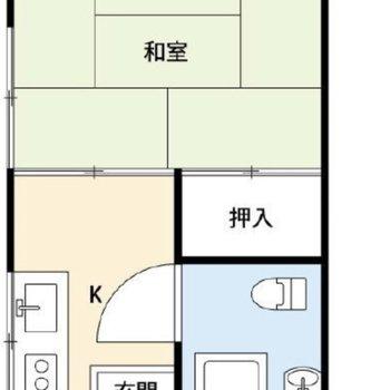 和室のある1Kです。