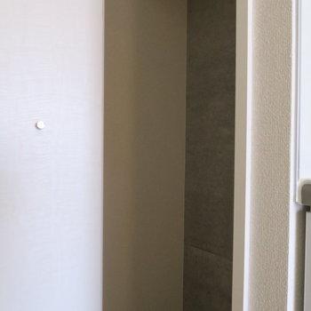 クローゼットは廊下に。コンパクトなので別にチェストを用意しましょう (※写真は3階の反転間取り別部屋のものです)