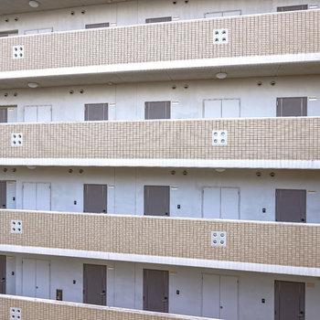 窓からはお隣のマンションが見えます。