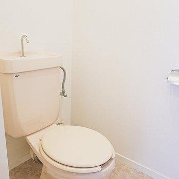 トイレはちょっぴりレトロだけど、しっかり綺麗にされていました!