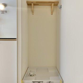 洗濯パンの上の棚が地味に嬉しいのです