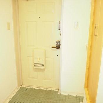 玄関も広いです。※写真は4階同間取り・別部屋のものです。