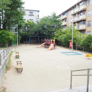 隣には、可愛らしい公園が。