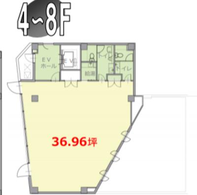 本駒込 36.96坪 オフィス の間取り