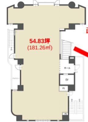 中村橋 54.83坪 オフィス の間取り