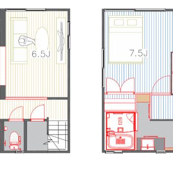 1階は無垢床!2階は木目調のフロアタイルになりました!