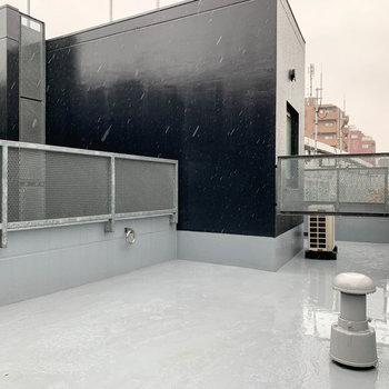 屋上的ルーフバルコニーです。