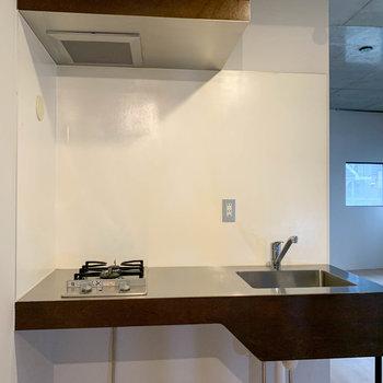 【LDK】二口ガスのキッチンです。
