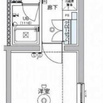 ゆったりと暮らせる広さのお部屋です。