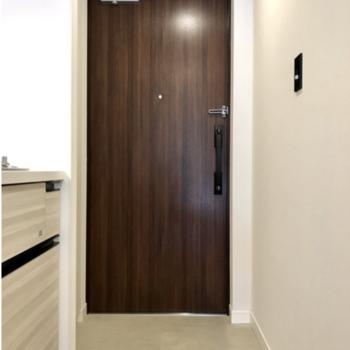 玄関部分も広さは充分。 ※写真は反転間取りの別部屋です。