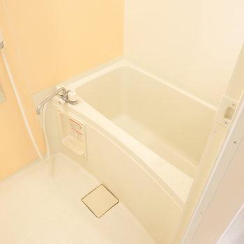 お風呂はシンプルですが、ひとりならゆったりと入れそうな浴槽。