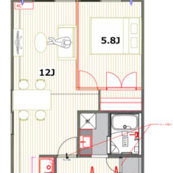 広々とした12帖のリビングダイニングが特徴のお部屋です