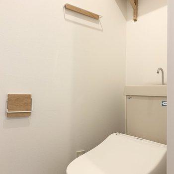 トイレの小物もこだわっています