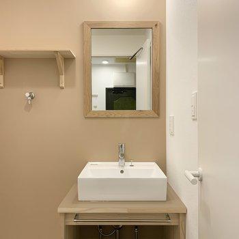 【イメージ】goodroomオリジナルの造作洗面台。くすみカラーがかわいいです◎