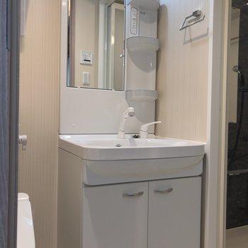 水周りの掃除用具はまとめてこちらに。※写真は5階の同間取り別部屋のものです