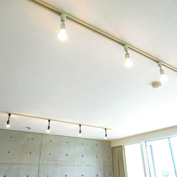 【LDK】照明はオシャレで雰囲気の良いライティングレール!