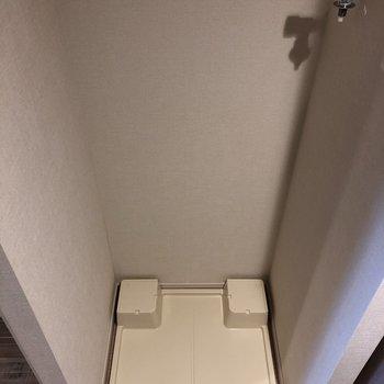 キッチン横にあり、洗濯機は室内設置になります。※写真は前回募集時のものです