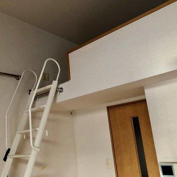 ロフトがあると天井も高くなるのが嬉しいポイント。(※写真は清掃前のものです)