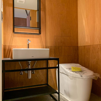 脱衣所もホテルのような上質な雰囲気です。※写真は3階の同間取り別部屋のものです