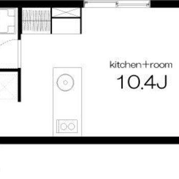 広い居室がうれしい、デザイナーズのお部屋です。