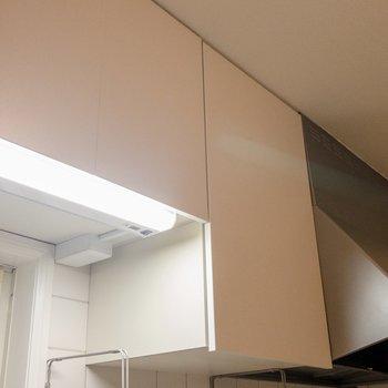 キッチン上の照明はセンサー式。濡れた手でもON・OFFスイッチできます。※写真は前回募集時のものです