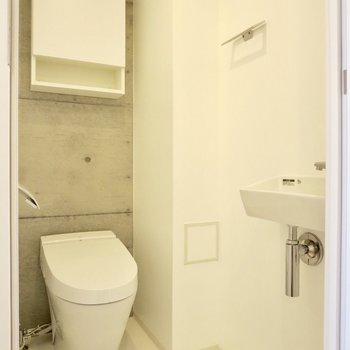 トイレにはお手洗いスペースがあります