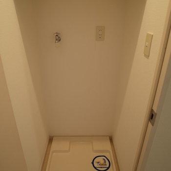 洗濯機置き場は照れやさんです(※写真は10階の同間取り別部屋のものです)