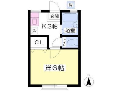武蔵境4分アパート の間取り