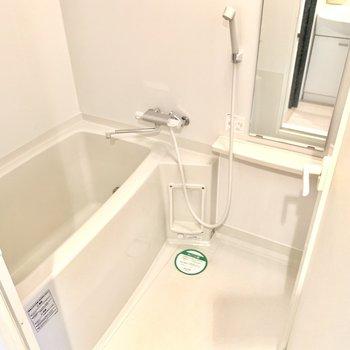 浴槽は追い焚き機能付き。これから来る寒い時期にはありがたい〜